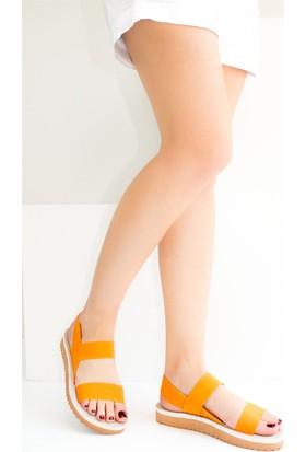 Fox Shoes Turuncu Kadın Sandalet B551156004