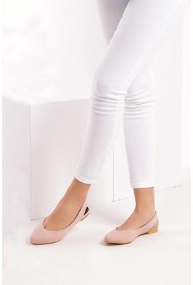 Fox Shoes Pudra Kadın Babet B726773702