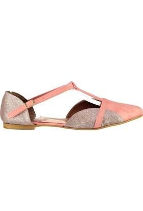 Fox Shoes Pembe Pudra Kadın Babet B726881802