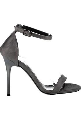 Fox Shoes Gri Kadın Topuklu Ayakkabı B922112602