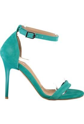 Fox Shoes Su Yeşili Kadın Topuklu Ayakkabı B922112602