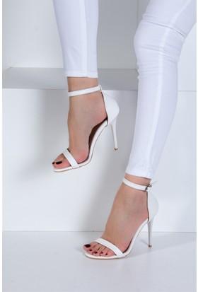 Fox Shoes Beyaz Kadın Topuklu Ayakkabı B922112609