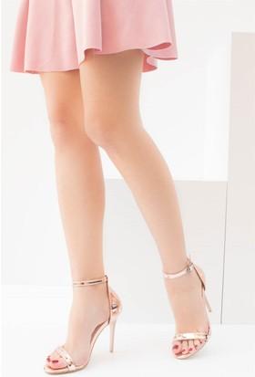 Fox Shoes Bronz Kadın Topuklu Ayakkabı B922112634