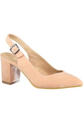 Fox Shoes Pudra Kadın Topuklu Ayakkabı B922922002