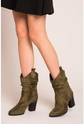Fox Shoes Haki Kadın Bot C340800702