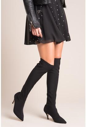 Fox Shoes Siyah Kadın Çizme C372541704