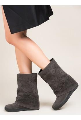 Fox Shoes Füme Kadın Çizme C437443302