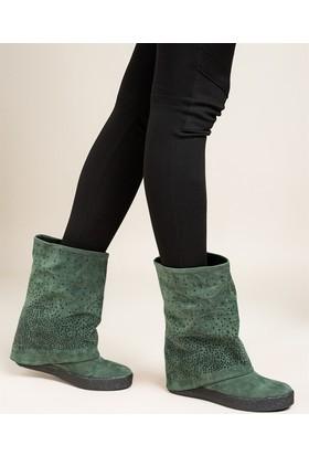 Fox Shoes Yeşil Kadın Çizme C437443302