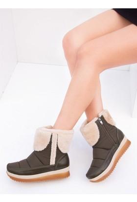 Fox Shoes Haki Kadın Bot C476021404