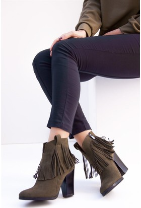 Fox Shoes Haki Kadın Bot C610040002