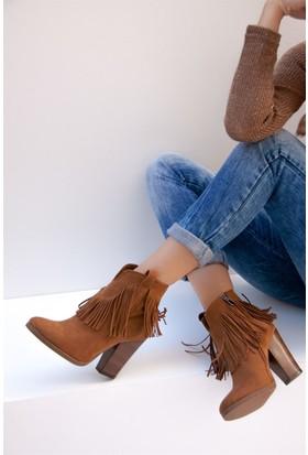 Fox Shoes Taba Kadın Bot C610040002