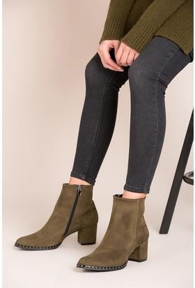 Fox Shoes Haki Kadın Bot C654013302