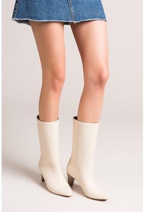 Fox Shoes Krem Kadın Bot C654088809