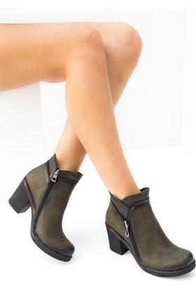 Fox Shoes Yeşil Kadın Bot C674150509
