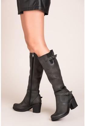 Fox Shoes Gri Kadın Çizme C674250109