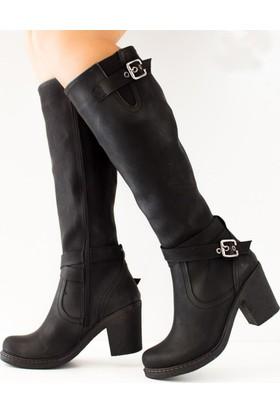 Fox Shoes Siyah Kadın Çizme C674250109