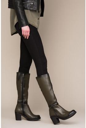 Fox Shoes Haki Kadın Çizme C674250309