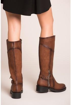 Fox Shoes Taba Kadın Çizme C674270109