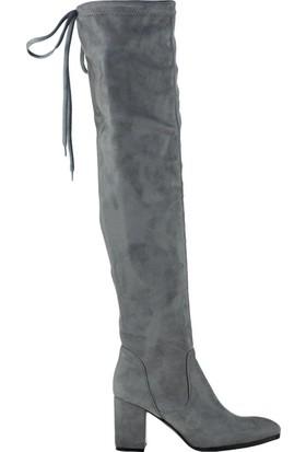 Fox Shoes Gri Kadın Çizme C860400102