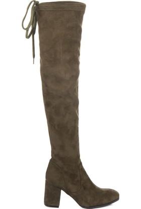 Fox Shoes Haki Kadın Çizme C860400102