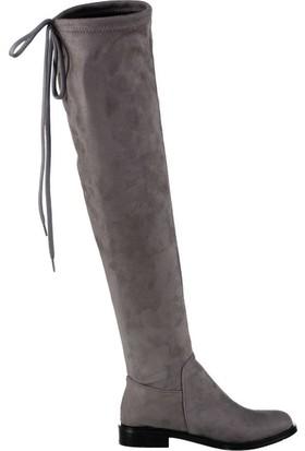 Fox Shoes Gri Kadın Çizme C860600102