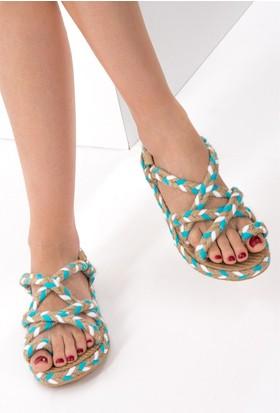 Fox Shoes Mavi Kadın Sandalet D304880205