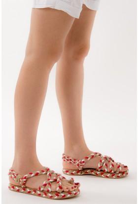 Fox Shoes Nar Çiçeği Kadın Sandalet D304880205