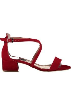 Fox Shoes Kırmızı Kadın Topuklu Sandalet D340010602