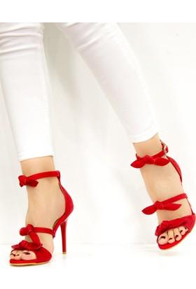 Fox Shoes Kırmızı Kadın Topuklu Ayakkabı D340033202