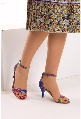 Fox Shoes Multi Kadın Topuklu Ayakkabı D340040007