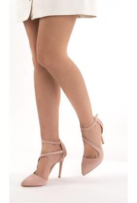 Fox Shoes Pudra Kadın Topuklu Ayakkabı D340089702