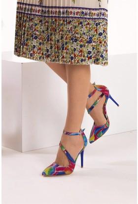 Fox Shoes Multi Kadın Topuklu Ayakkabı D340089707