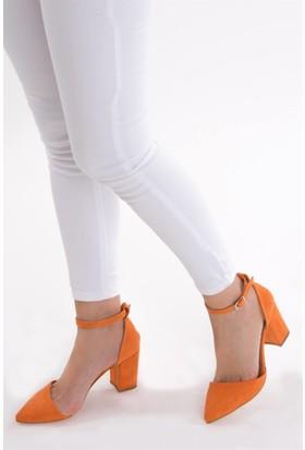 Fox Shoes Turuncu Kadın Topuklu Ayakkabı D340112302
