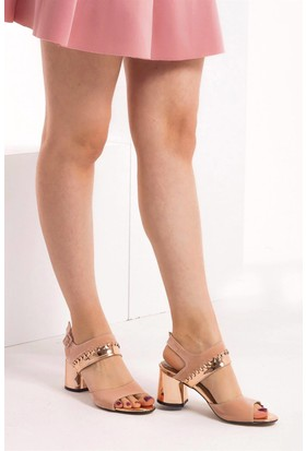 Fox Shoes PudraBronz Kadın Topuklu Sandalet D404132202