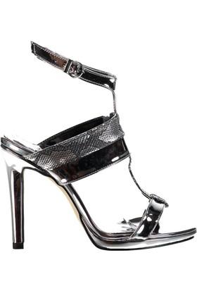 Fox Shoes Platin Kadın Topuklu Ayakkabı D404218334