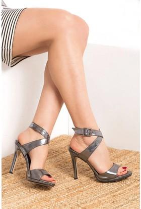 Fox Shoes Platin Kadın Topuklu Ayakkabı D404218409