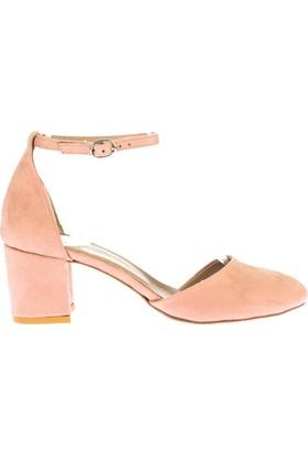 Fox Shoes Pudra Kadın Topuklu Ayakkabı D422008202