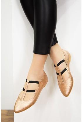 Fox Shoes Bakır Kadın Babet D430329614