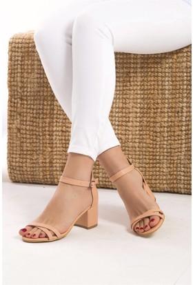 Fox Shoes Pudra Kadın Topuklu Sandalet D437593009