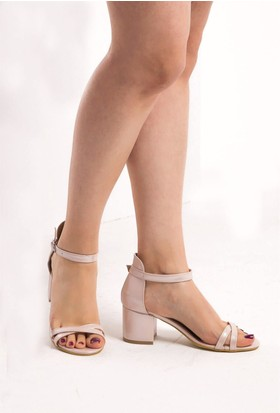 Fox Shoes Pudra Kadın Topuklu Sandalet D437593014