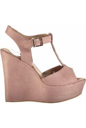 Fox Shoes Pudra Kadın Dolgu Topuklu Sandalet D459706002