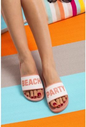 Fox Shoes Beyaz Pudra Kadın Terlik D476001109