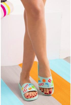 Fox Shoes Yeşil Kadın Terlik D476001309