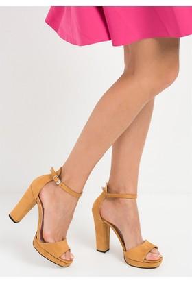 Fox Shoes Hardal Kadın Topuklu Ayakkabı D518011002
