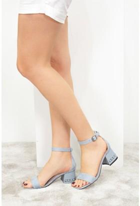 Fox Shoes Mavi Kadın Topuklu Sandalet D518800902