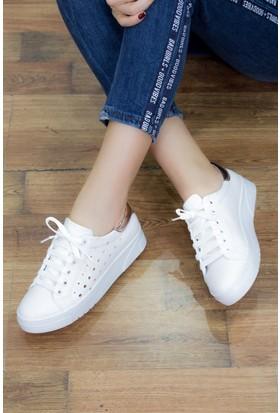 Fox Shoes Beyaz Bakır Kadın Sneakers D540176009