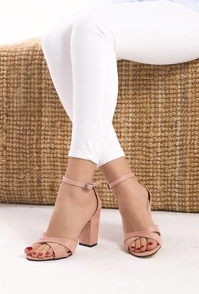 Fox Shoes Pudra Kadın Topuklu Ayakkabı D572223302