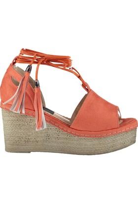 Fox Shoes Turuncu Kadın Dolgu Topuklu Sandalet D583197802
