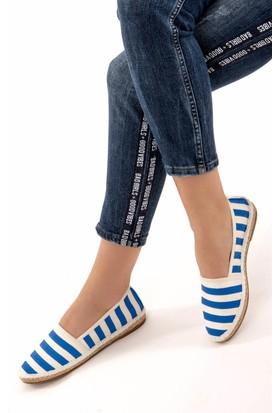 Fox Shoes Saks Mavi Kadın Ayakkabı D587954505
