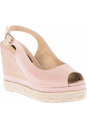 Fox Shoes Pudra Kadın Dolgu Topuklu Sandalet D588150102